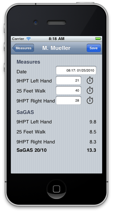 SaGAS I-phone app screenshot 3